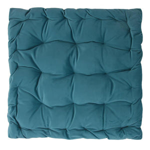 CUSHION | velvet meditation 40 × 40 cm | Turquoise | - bakker made with love