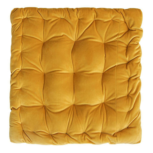 CUSHION | velvet meditation 40 × 40 cm | Yellow | - bakker made with love