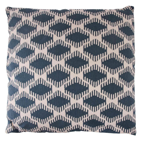 FLOOR CUSHION | toubkal 90 x 90 cm | Diamond Teal Blue | - bakker made with love
