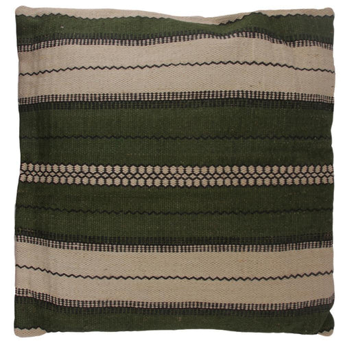 FLOOR CUSHION | toubkal 90 x 90 cm | Khaki/White | - bakker made with love