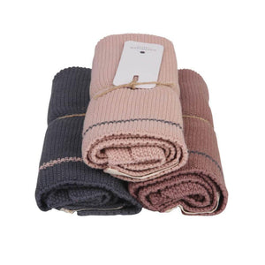 KNITTED GUEST TOWELS | set of 3 - Pinkish | - bakker made with love