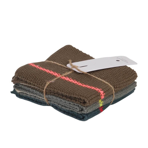 KNITTED KITCHEN TOWELS | set of 3 - Forest | - bakker made with love