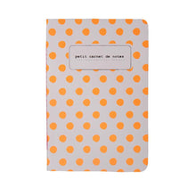 Load image into Gallery viewer, NOTEBOOKS A6 | fluo polka dots - orange | - bakker made with love