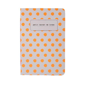 NOTEBOOKS A6 | fluo polka dots - orange | - bakker made with love