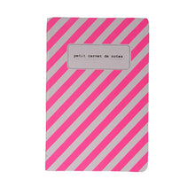 Load image into Gallery viewer, NOTEBOOKS A6 | fluo stripes - pink | - bakker made with love