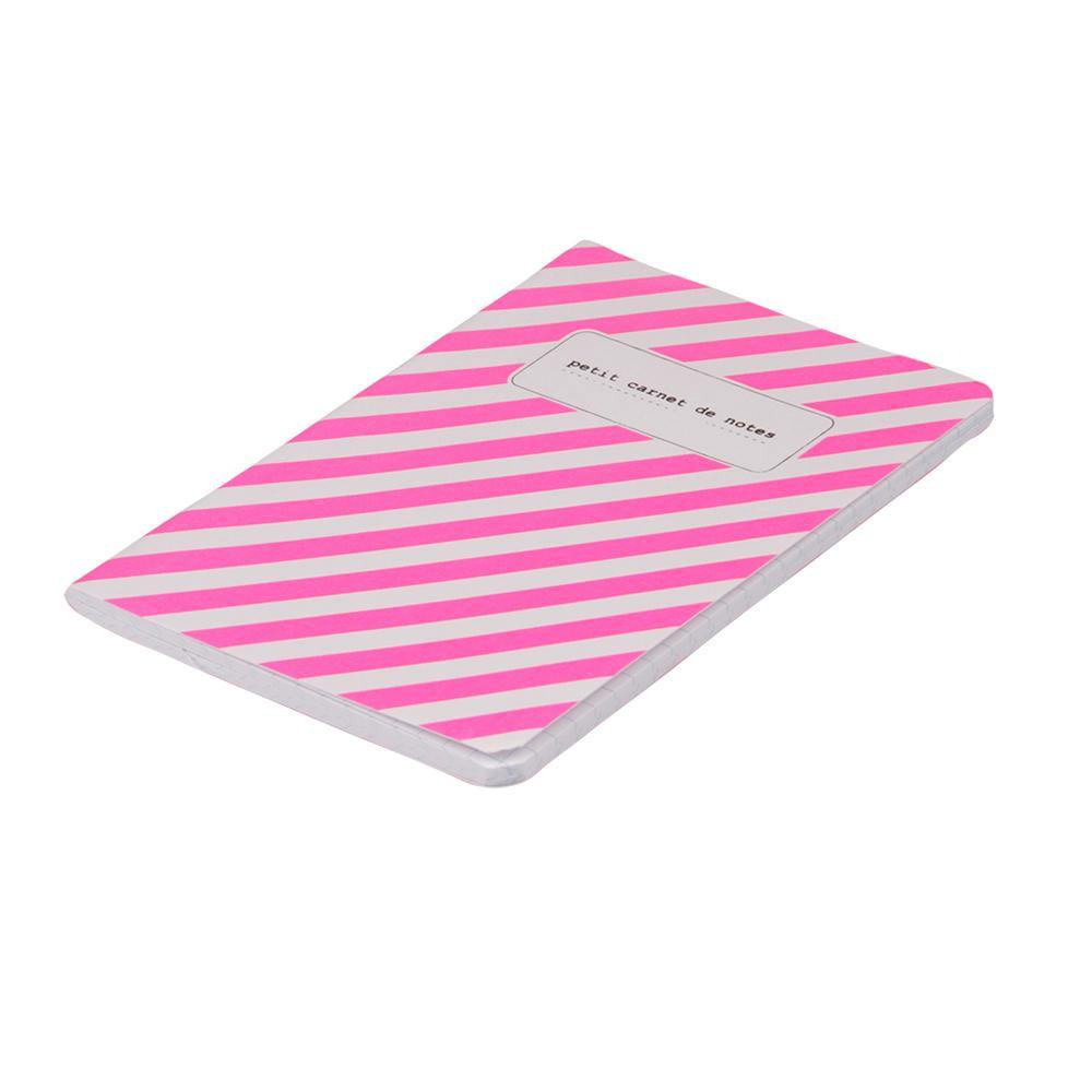 NOTEBOOKS A6 | fluo stripes - pink | - bakker made with love