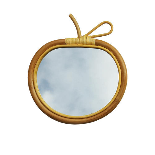 RATTAN MIRROR | small - apple | - bakker made with love