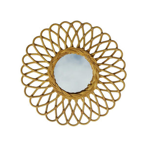 RATTAN MIRROR | small - atom | - bakker made with love