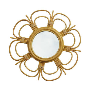 RATTAN MIRROR | small - daisy | - bakker made with love