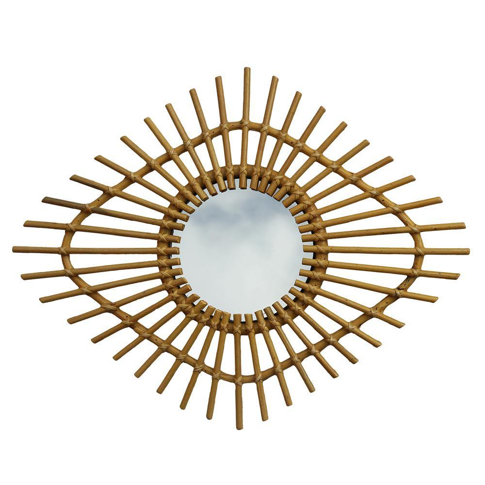 RATTAN MIRROR | small - mata | - bakker made with love