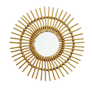 RATTAN MIRROR | small - solei | - bakker made with love