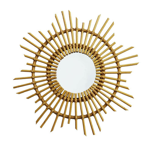 RATTAN MIRROR | small - sun | - bakker made with love