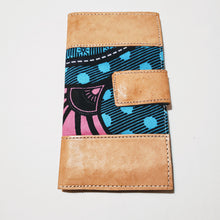 Load image into Gallery viewer, Leather & African Print Wallet
