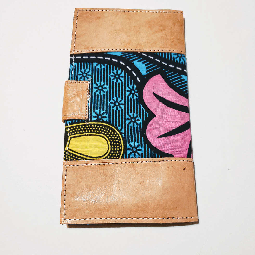 Leather & African Print Wallet