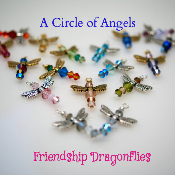 **New** Friendship Dragonfly Charms (A Circle of Angels)