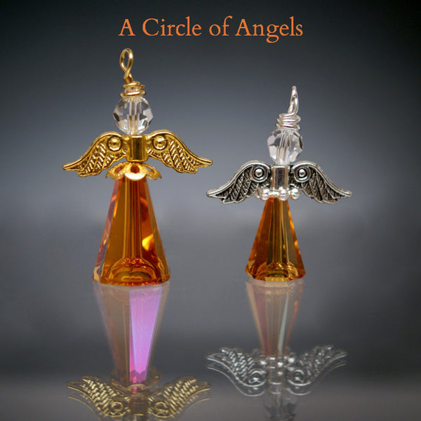 Angel Charms (Silver or Gold Finish)