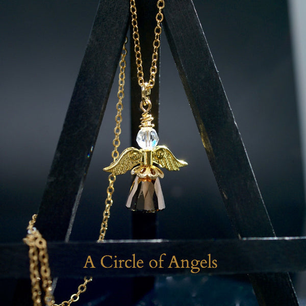 "*New* Angel Necklace - ""Dome"" Design"