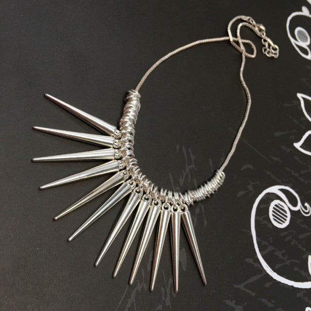 """Due North"" Spiked Necklace"