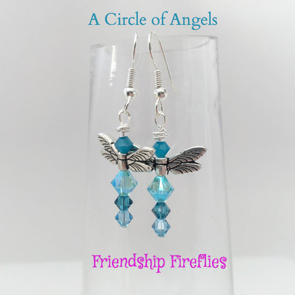 *New* Friendship Dragonfly Earrings (A Circle of Angels)