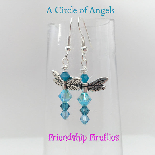 Friendship Dragonfly Earrings (A Circle of Angels)