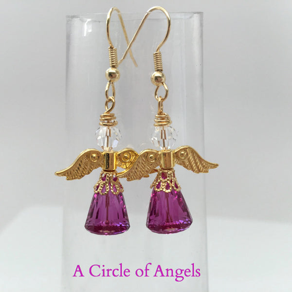"*New* Angel Earrings - ""Dome"" Design"