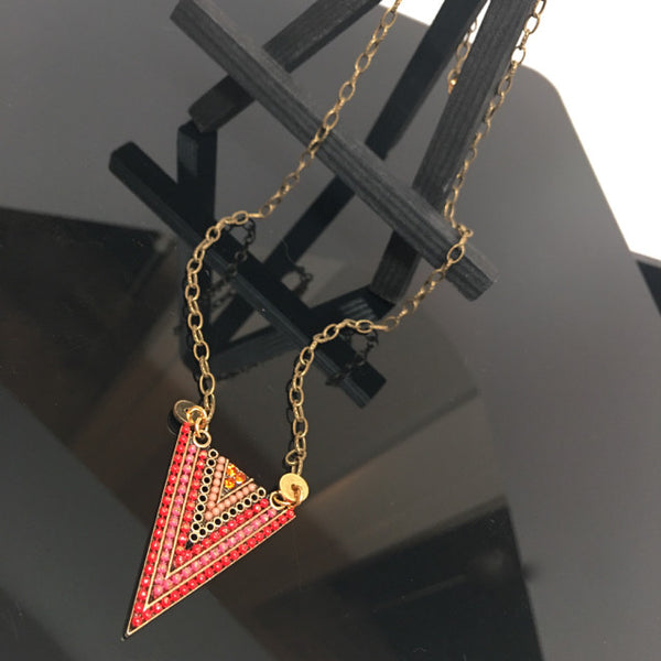 """Arrow"" Necklace (Reds)"