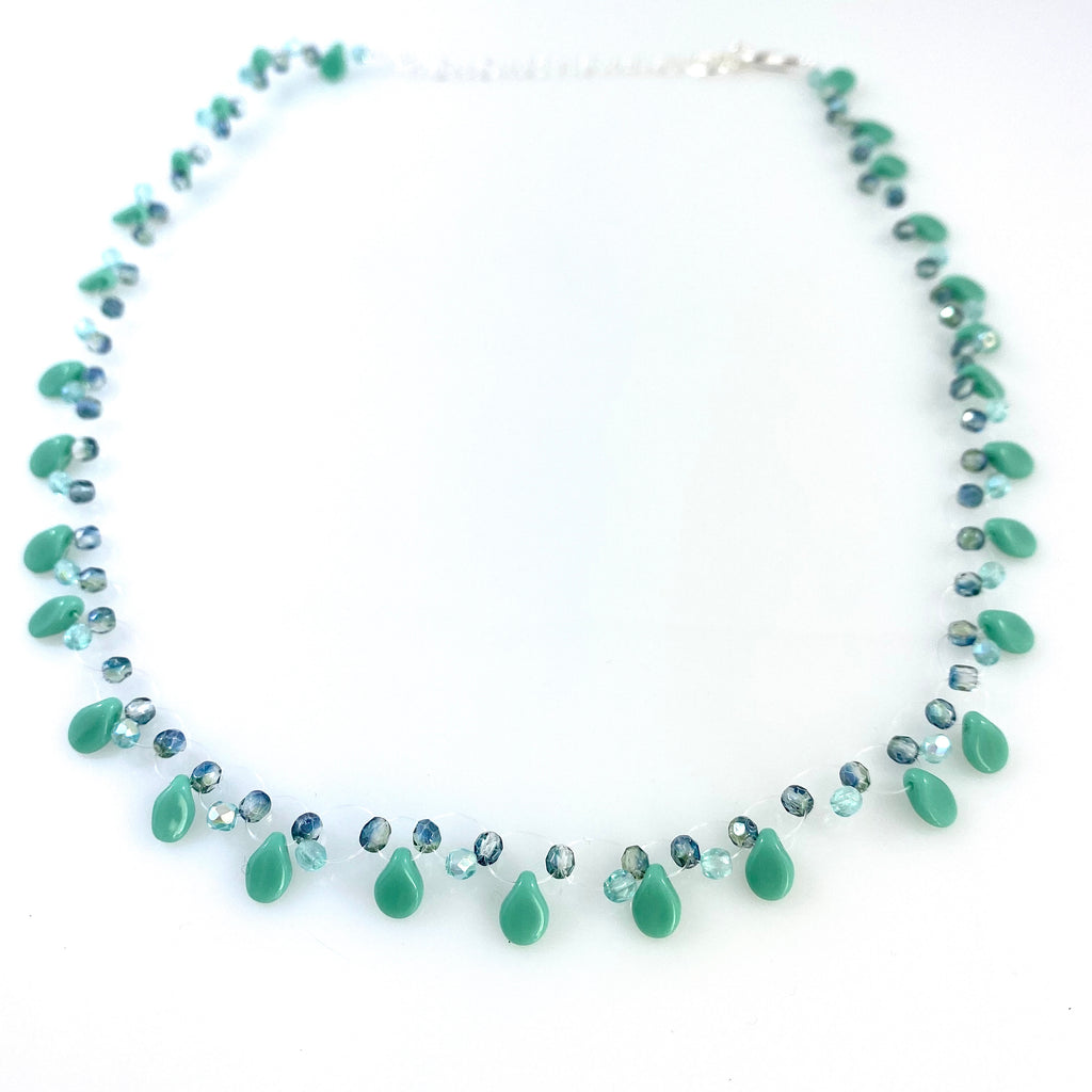 """May Showers"" Necklace (Turquoise)"