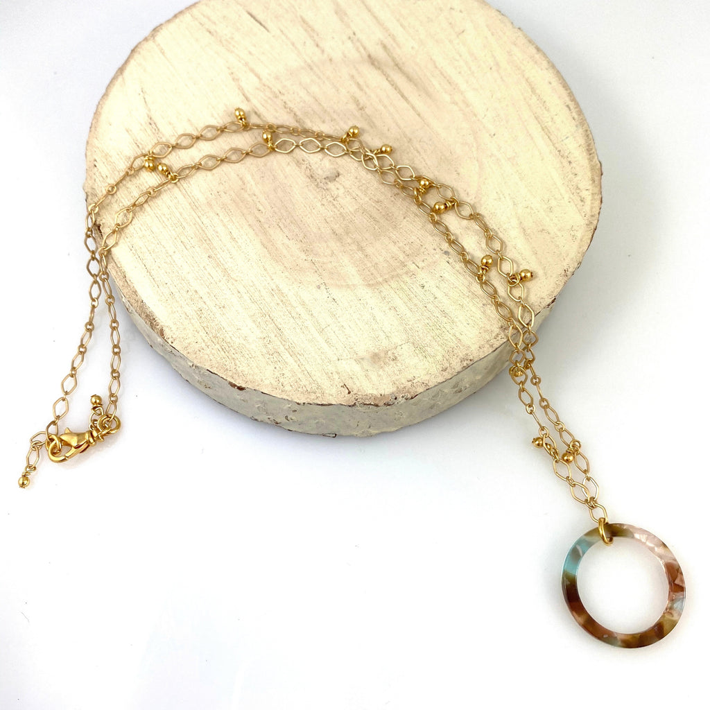 """Open Window"" Necklace (Meadow)"