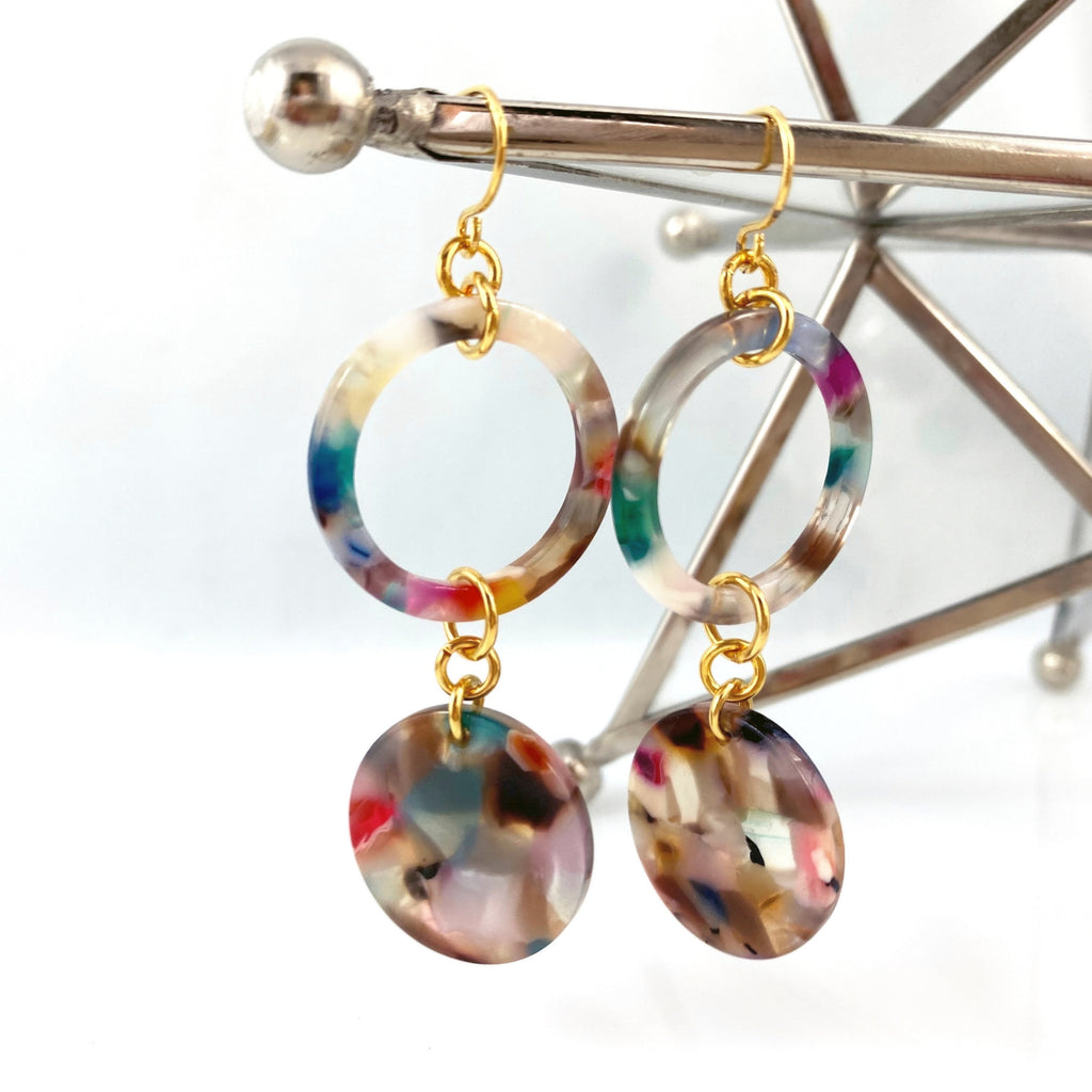 """At the Fair"" (Rainbow) Earrings"