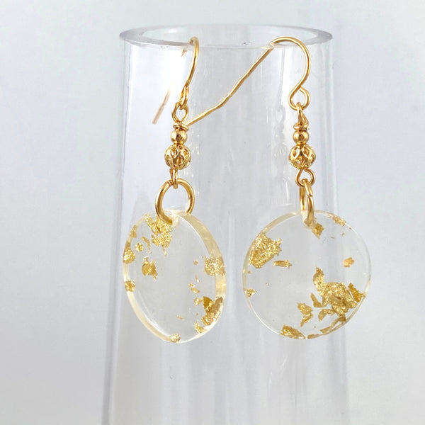 """Gold Coin"" Earrings"