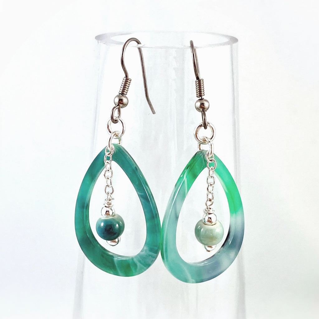 """Greenly"" Earrings"