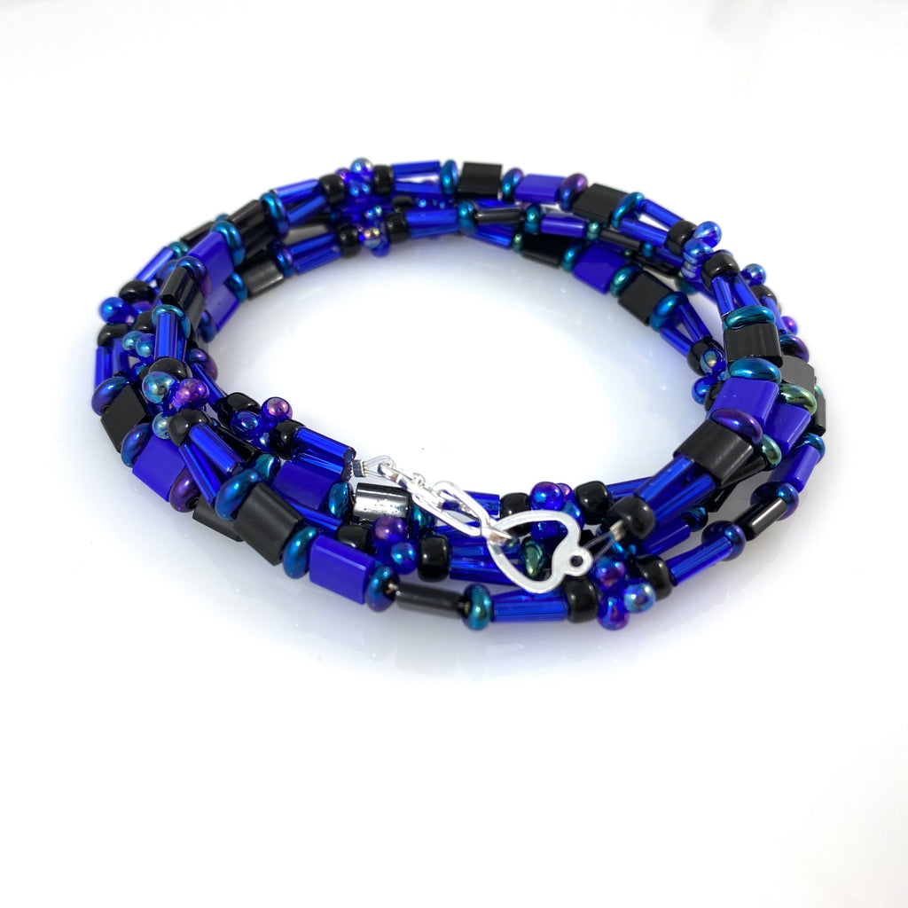 """Tile Wrap"" Bracelet - Midnight Blue"