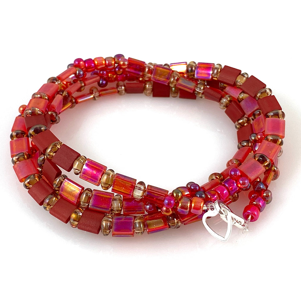 """Tile Wrap"" Bracelet - Rougie"
