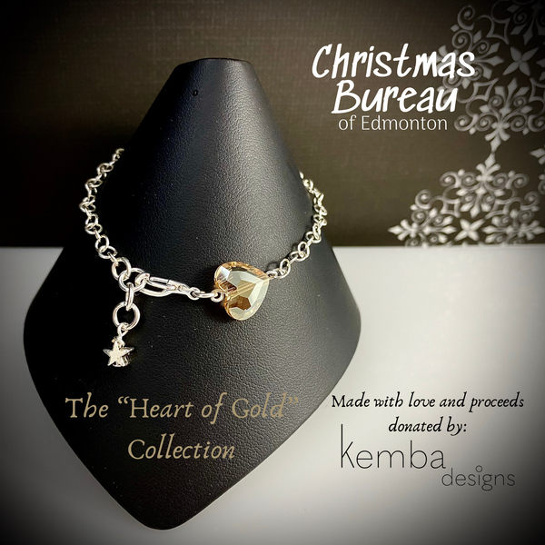 """Heart of Gold"" Bracelet - The 2020 Christmas Bureau Collection"