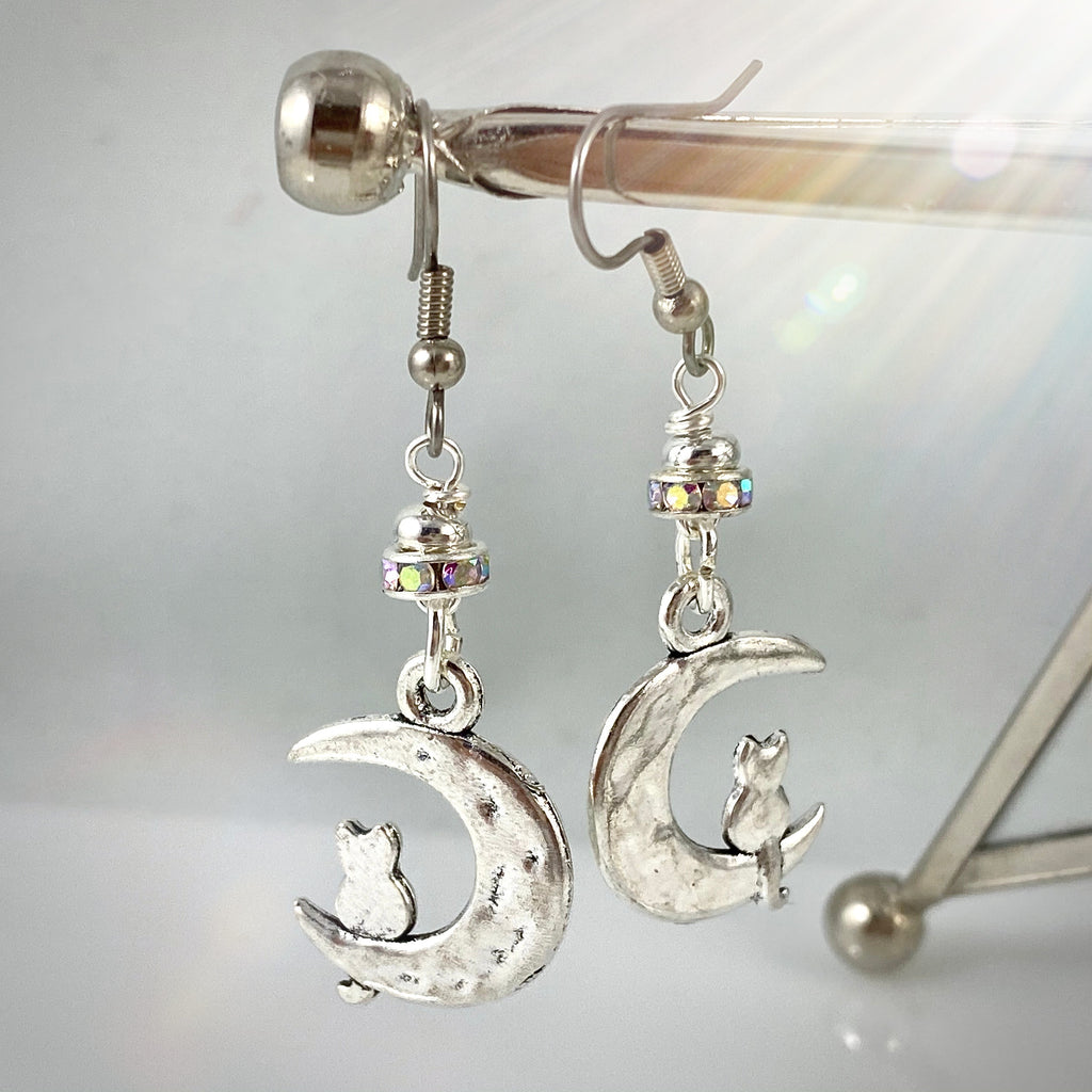 """Mouse and the Moon"" Earrings"