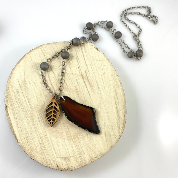 """A Slice of Nature"" Necklace"