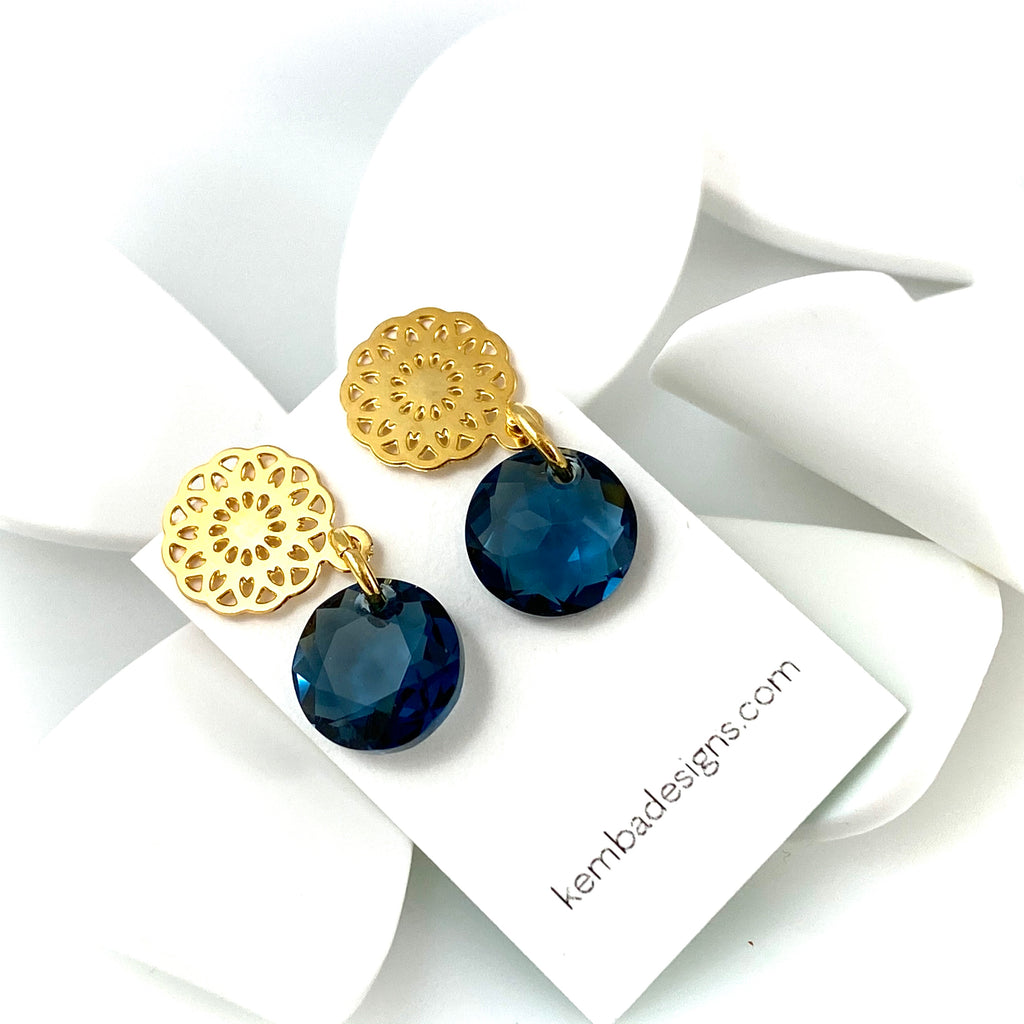 """Light Bright 2"" Earrings (Denim)"
