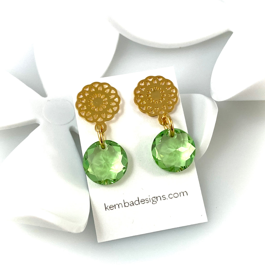 """Light Bright 2"" Earrings (Green)"