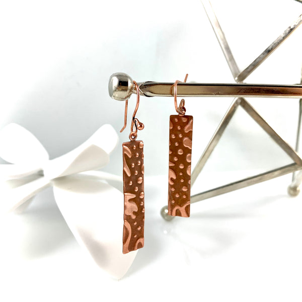 """Copper Stream"" Earrings"