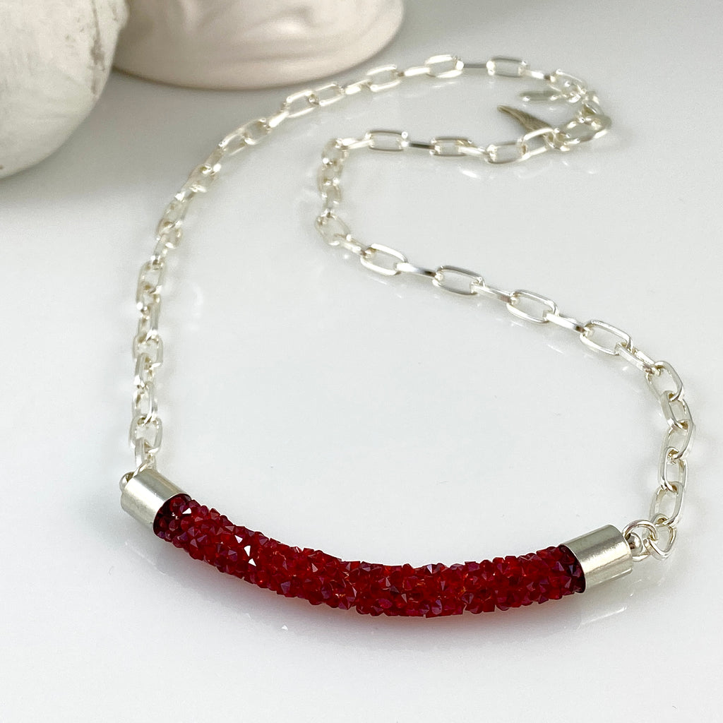 """Crystal Candy"" (Ruby) Necklace"
