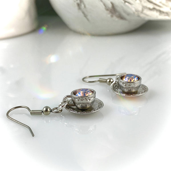 """Twinkle Tea"" Earrings"