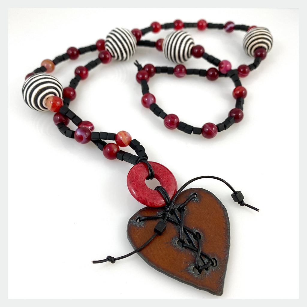 """Love Laced Together"" Necklace"