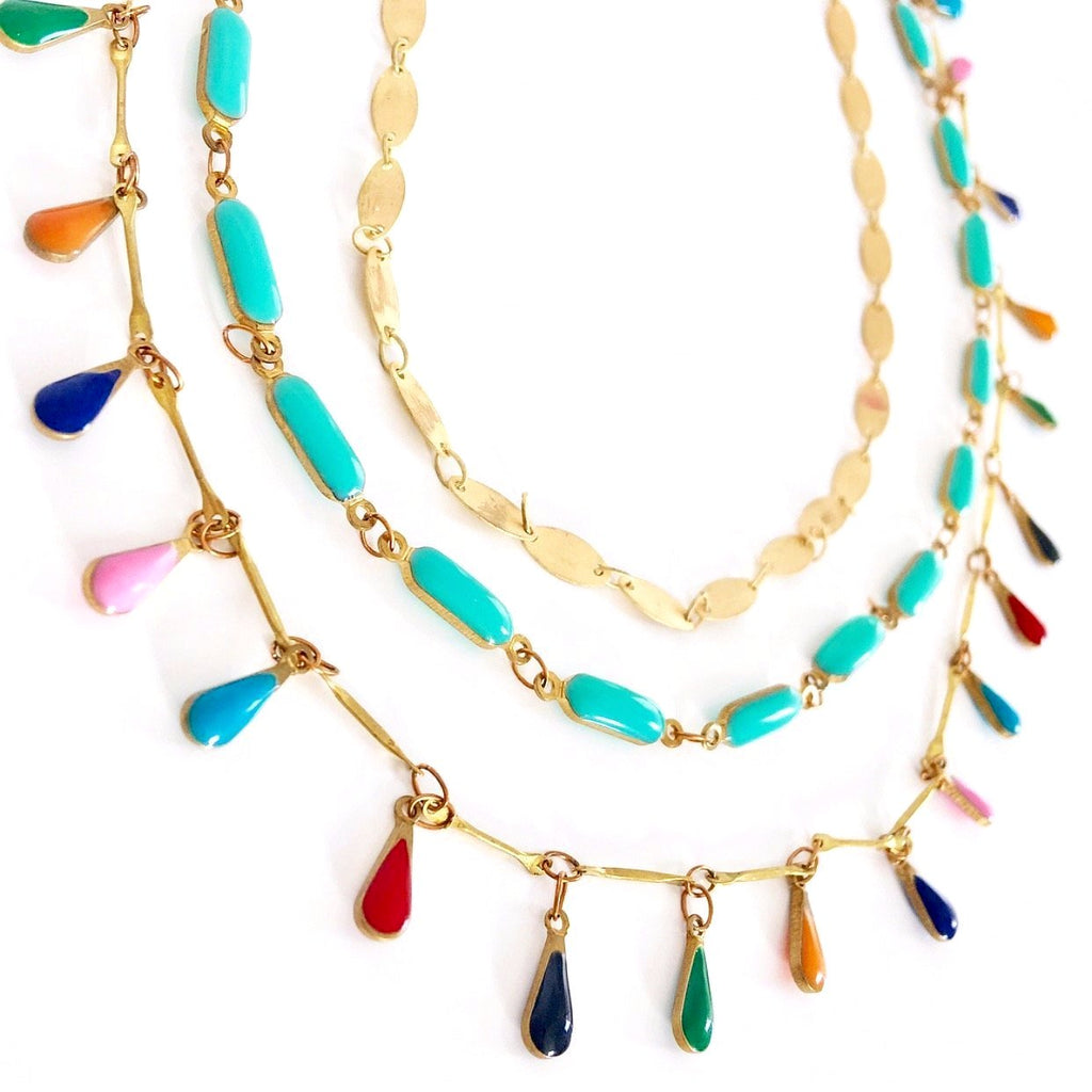 """Aztec"" Layered Necklace"
