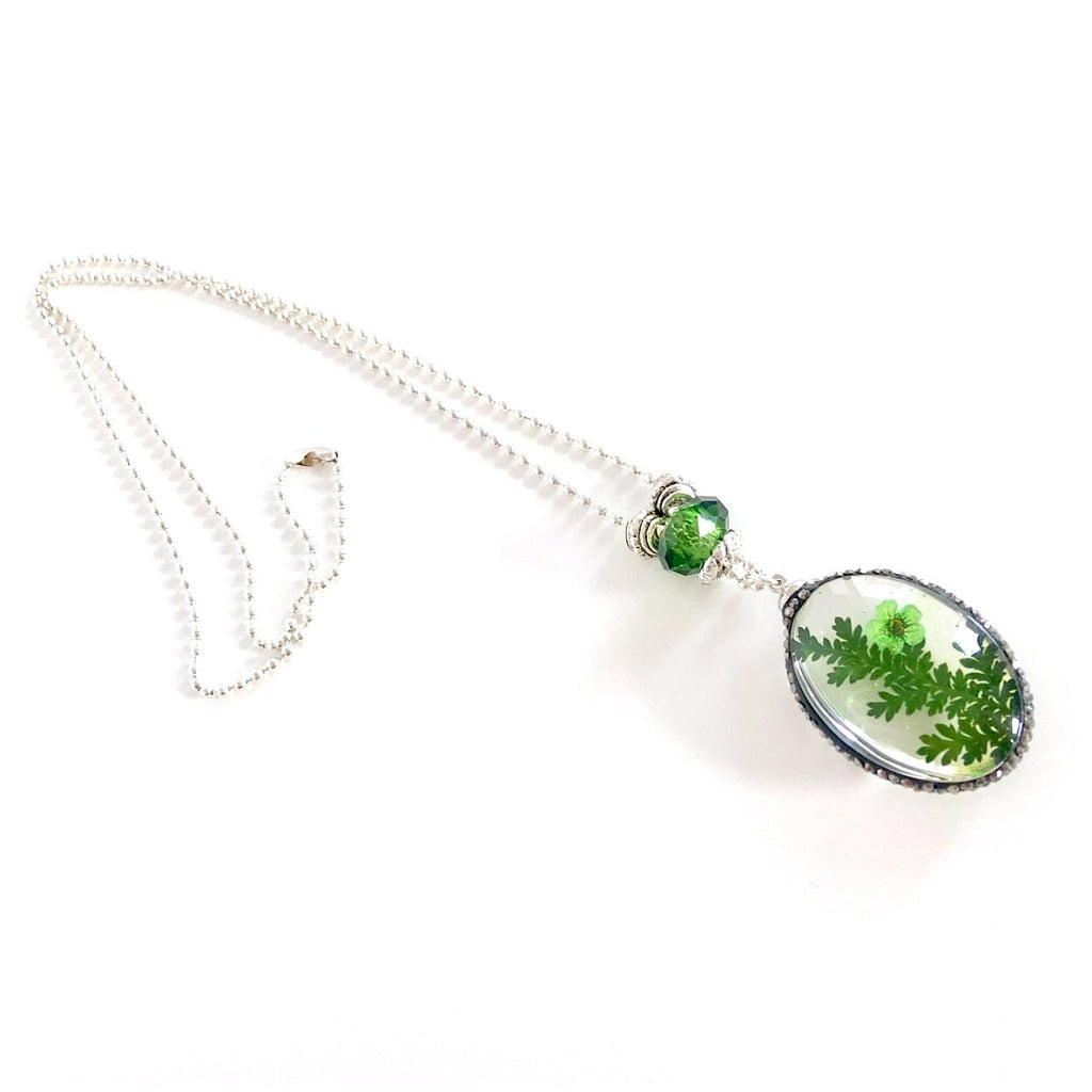 """Lost  Garden"" Pendant Necklace (Green)"