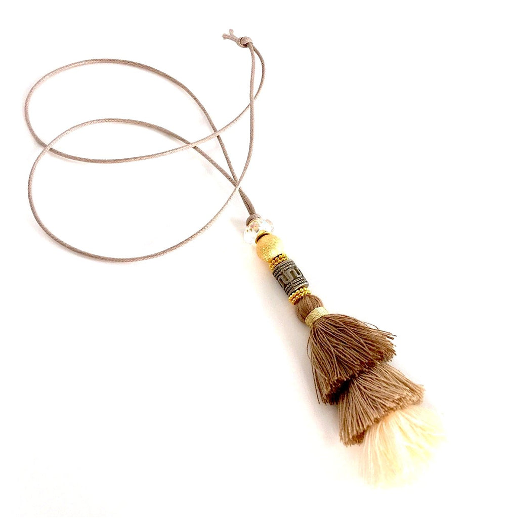 """Duster Tassel"" Necklace (Natural)"