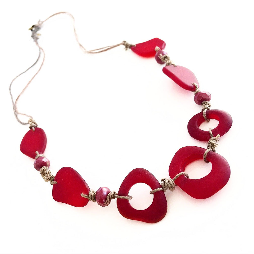 """Tidal Pool"" Necklace (Red)"