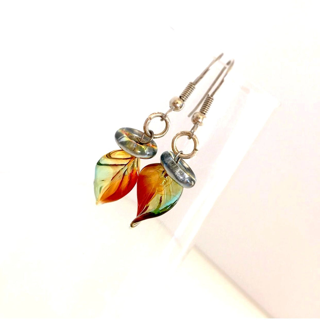 """Twisted Leaf"" Earrings (Fall)"