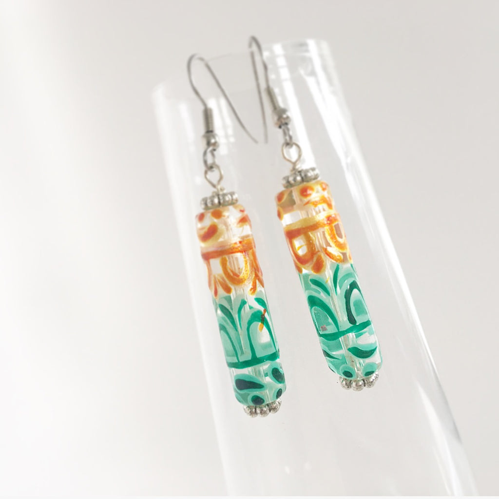 """Stained Glass"" Earrings"