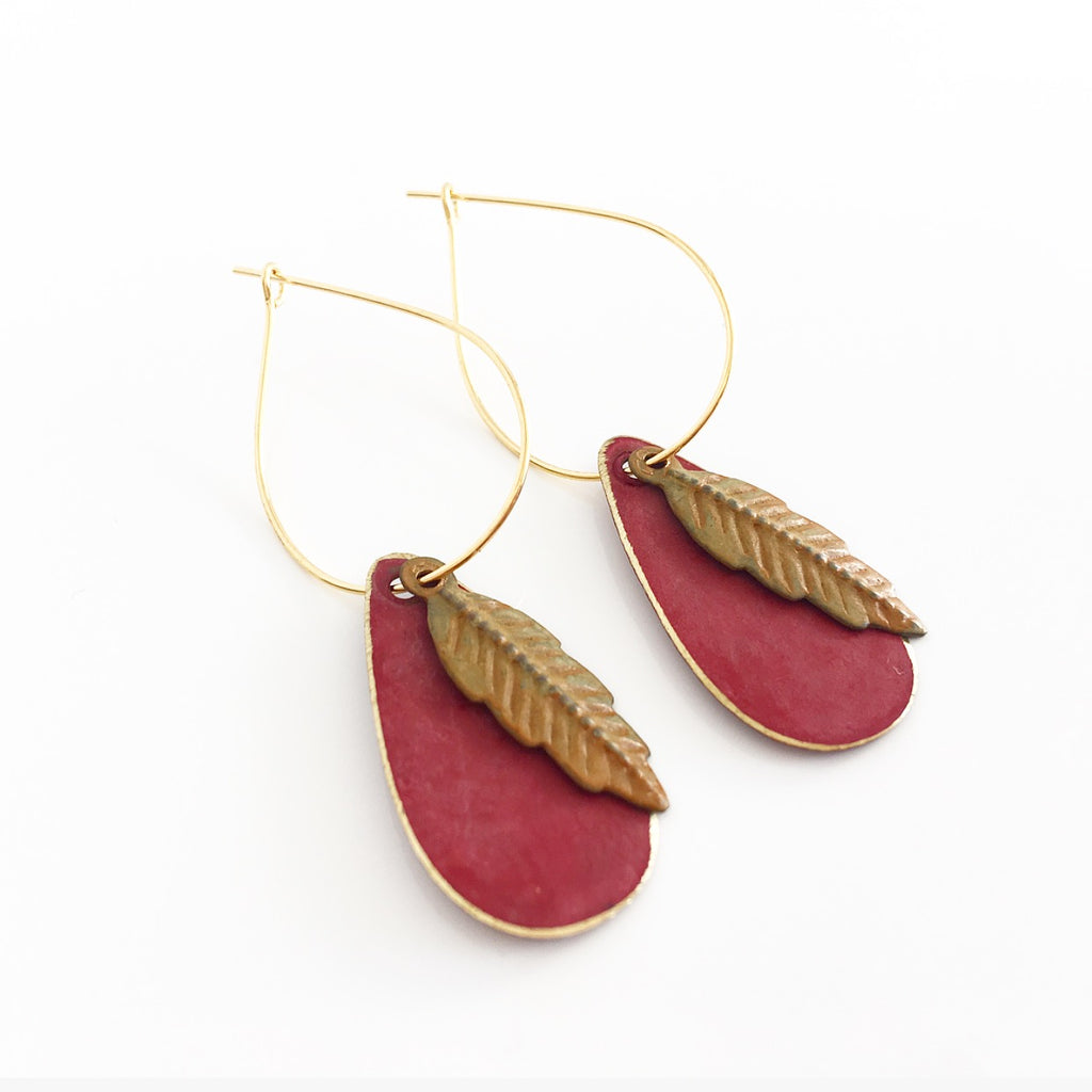 """Teeny Patiny"" Drop Earrings"