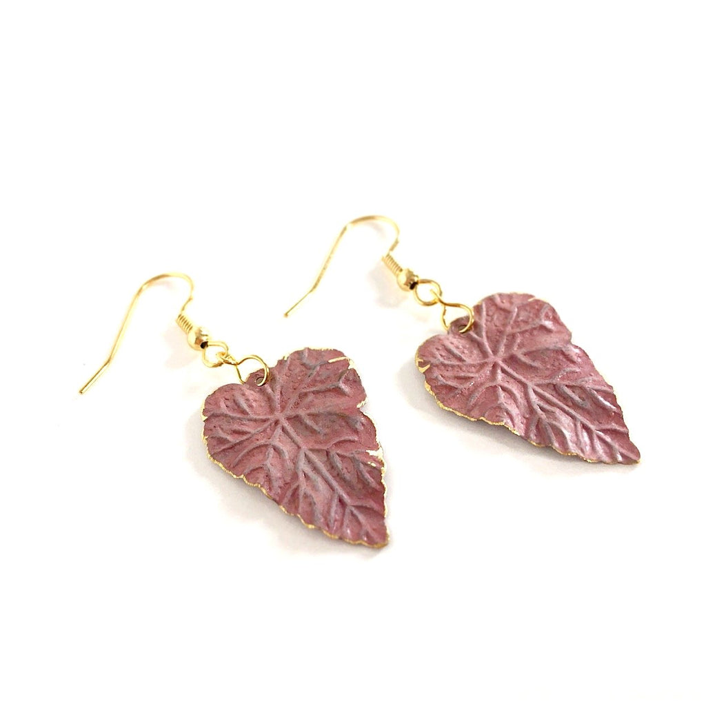 """Patina Leaves"" Earrings"